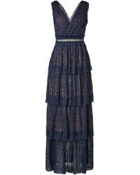 Self-Portrait - Metallic Lace Tiered Dress - Lyst