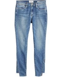 FRAME - Le High Skinny Gusse Jeans - Lyst