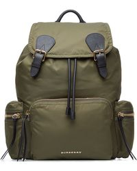 Burberry Prorsum - The Medium Rucksack In Fabric - Green - Lyst