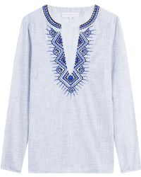Christophe Sauvat - Balkan Embroidered And Embellished Cotton Tunic - Lyst