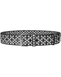 Faith Connexion - Perforated And Studded Leather Belt - Lyst