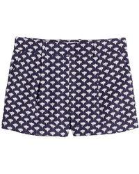 Diane von Furstenberg - Stretch Cotton Printed Shorts - Lyst