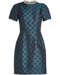 Mary Katrantzou - Jacquard Dress With Faux Pearl Embellishment - Lyst