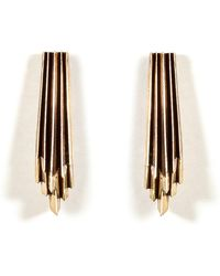 Aesa - Brass Wind Wake Earrings - Lyst
