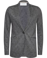 Harris Wharf London - Houndstooth Blazer With Virgin Wool And Cotton - Lyst