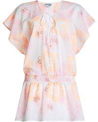 Juliet Dunn - Printed Cotton Dress - Lyst