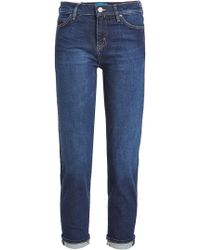 M.i.h Jeans - Cropped Straight Leg Jeans - Lyst