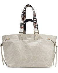 Isabel Marant - Bagya Leather Tote With Embroidered Handles - Lyst