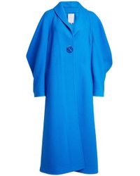 ROKSANDA - Wool-cashmere Coat With Oversized Sleeve - Lyst