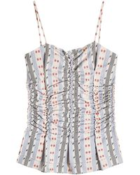 Carven - Ruched Jacquard Cotton Camisole - Lyst