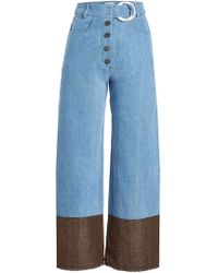 Rejina Pyo - Wide-leg Jeans With Contrast Ankles - Lyst