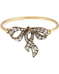 Marc Jacobs - Crystal Embellished Bow Bracelet - Lyst
