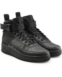 Nike | Sf Air Force 1 High Top Trainers With Leather And Mesh | Lyst