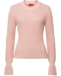 HUGO - Sibina Knit Pullover With Cotton And Silk - Lyst
