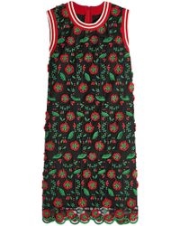 Anna Sui - Embroidered Shift Dress - Lyst
