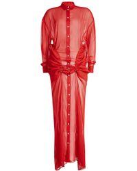 Y. Project - Draped Chiffon Dress - Lyst