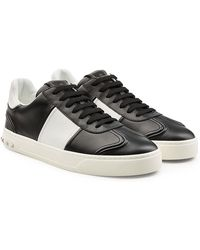 Valentino - Gazelle Leather Sneakers With Rockstuds - Lyst