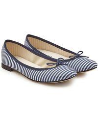Repetto - Cendrillon Striped Ballerinas - Lyst