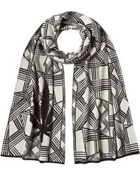 Lucien Pellat Finet | Printed Cotton Scarf With Cashmere | Lyst