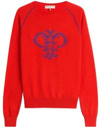 Emilio Pucci - Intarsia Knit Wool Pullover - Lyst