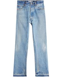 RE/DONE - Straight Leg Jeans - Lyst