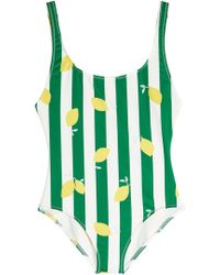 Solid & Striped - The Anne-marie Lemon-print Swimsuit - Lyst