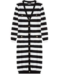 Boutique Moschino - Cotton Striped Long Cardigan - Lyst