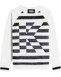Karl Lagerfeld - Karl Stripe Sweatshirt - Lyst