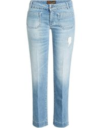The Seafarer - Cropped Jeans mit Used-Detail - Lyst