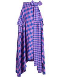 Natasha Zinko - Printed Cotton Skirt - Lyst