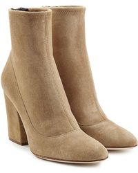 Sergio Rossi - Virgina Suede Ankle Boots - Lyst