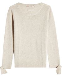 81hours - Wool And Cashmere Pullover With Ribbon Cuffs - Lyst