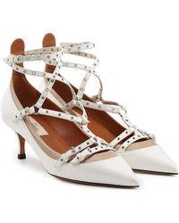 Valentino - Love Latch Leather Kitten Heel Court Shoes - Lyst