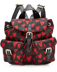 RED Valentino | Printed Backpack With Leather | Lyst
