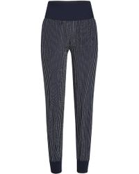 Theory - Silk Jogger-style Trousers - Lyst
