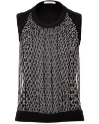 Bouchra Jarrar - Knit Top With Silk Front Panel - Lyst