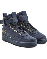 Nike | Sf Air Force 1 High Top Trainers With Suede And Mesh | Lyst