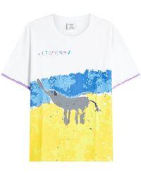 Vetements - Elephant Elinor Printed Cotton T-shirt - Lyst