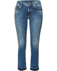 True Religion - Mid Rise Skinny Jeans Halle mit Power-Stretch - Lyst