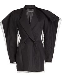 Y. Project - Blazer With Tulle Overlay - Lyst