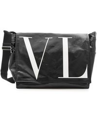Valentino - Large Messenger With Leather - Lyst