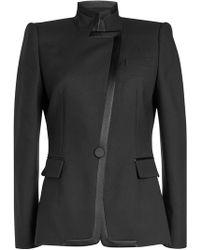 Alexander McQueen - Asymmetric Blazer With Wool - Lyst