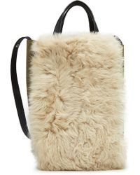 Rag & Bone - Convertible Suede Tote With Shearling - Lyst