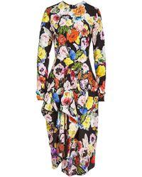 Preen By Thornton Bregazzi - Christine Printed Silk Dress - Lyst