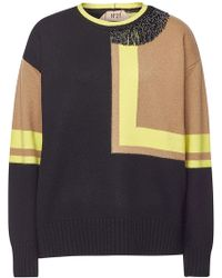 N°21 - Embellished Wool Pullover - Lyst