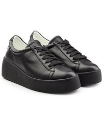 Robert Clergerie - Leather Platform Trainers - Lyst
