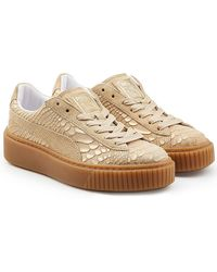 PUMA - Textured Leather Creeper Sneakers - Lyst
