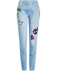KENZO - Patched Baggy Jeans - Lyst