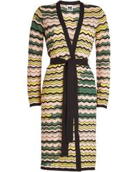 M Missoni - Belted Cardigan With Cotton - Lyst