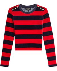 Juicy Couture - Striped Velour Pullover - Lyst